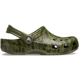 Crocs Classic Printed Camo Clogs, army green